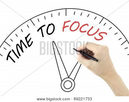 Time To Focus Written By Man's Hand