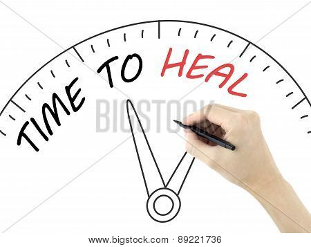 Time To Heal Written By Man's Hand