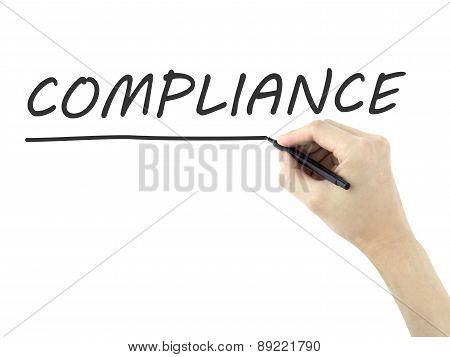Compliance Written By Man's Hand