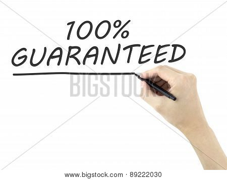 100 Percent Guaranteed Words Written By Man's Hand