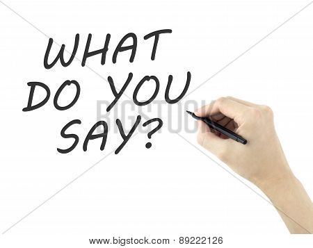 What Do You Say Words Written By Man's Hand