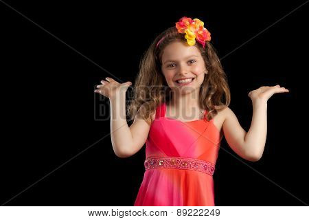 Young Girl With Palms Up