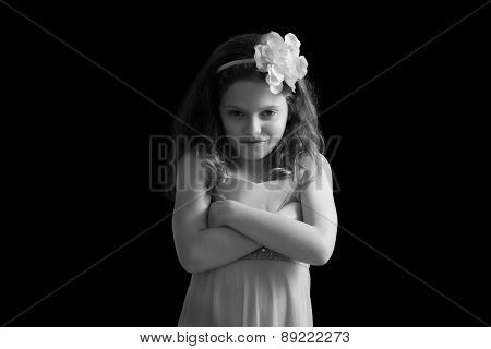 Girl With Arms Cross Staring