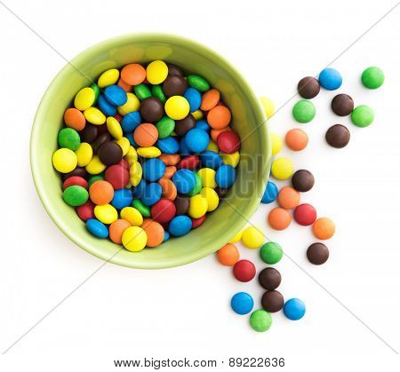 colorful candy in green plate