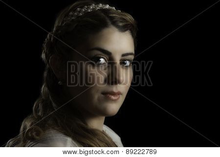 Pretty Girl In Braid And Headband