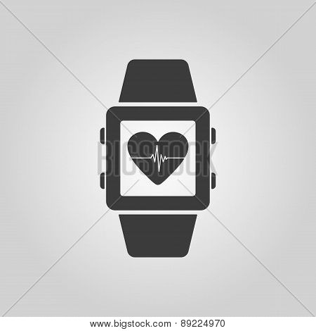 The Smart Watch Icon. Fitness Bracelet Symbol