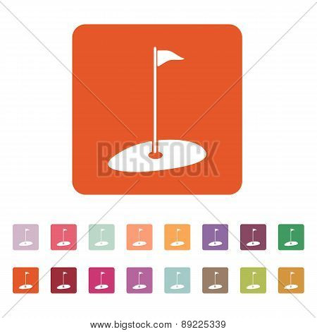 The Golf Icon. Sport Symbol. Flat