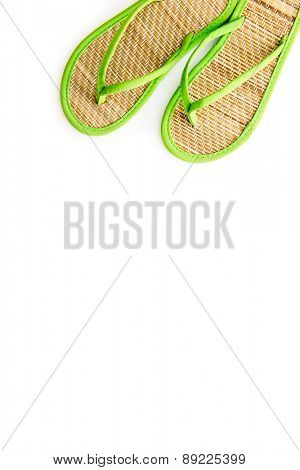 beach slippers isolated on a white background