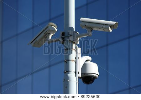 three security camera