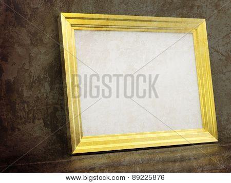 Vintage Gold frame in Old interior