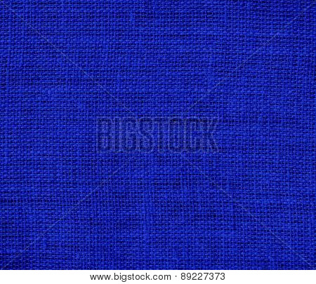 Blue (Pantone) color burlap texture background