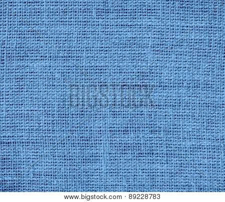 Blue-gray color burlap texture background