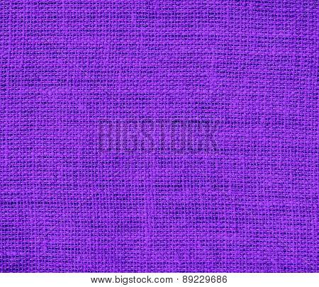Blue-violet color burlap texture background