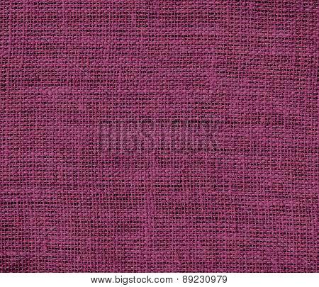 Boysenberry color burlap texture background