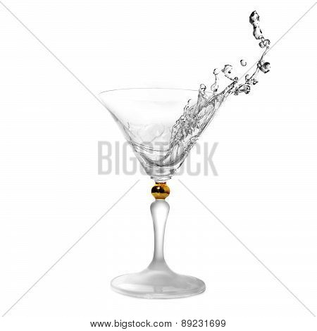 Liquid In Cocktail Glass