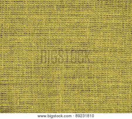 Brass color burlap texture background
