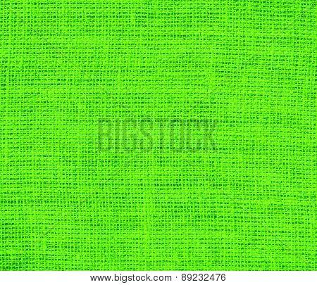 Bright green color burlap texture background
