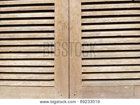 The Surface Of Wooden Window For Background
