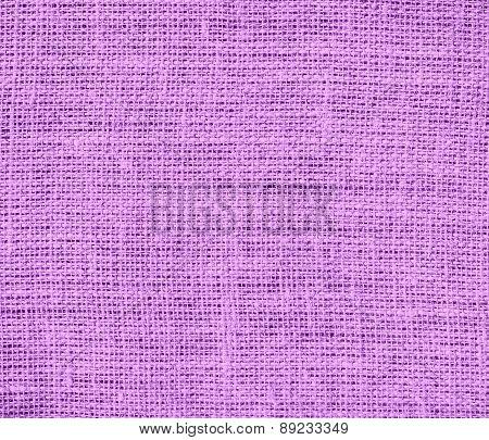 Bright lilac color burlap texture background
