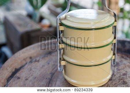The Design Of Thailand Traditional Tiffin