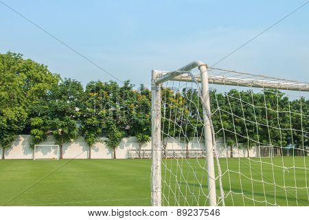 Goal Of Football Or Soccer Type Sport