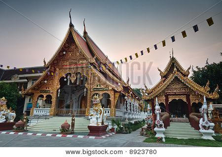 Wat Phra Singh temple in Chiang Mai, Thailand