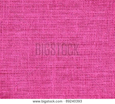 Brilliant rose color burlap texture background