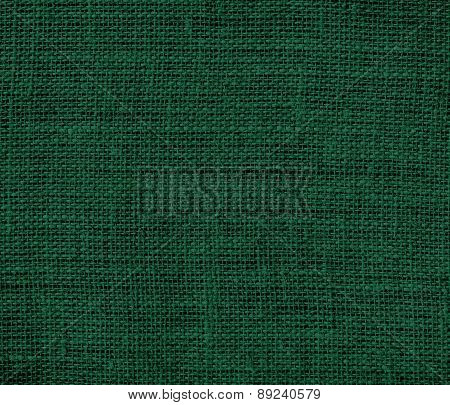 British racing green color burlap texture background