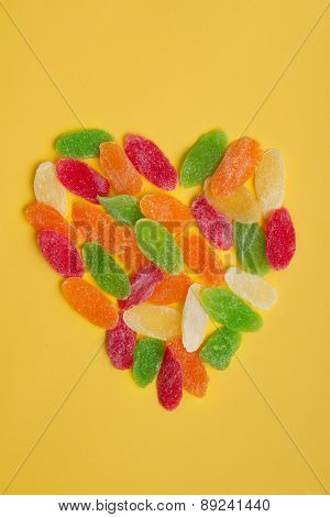 Candied dried fruits