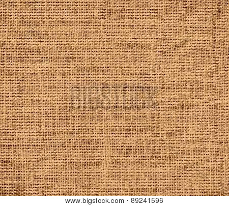 Brown Yellow color burlap texture background