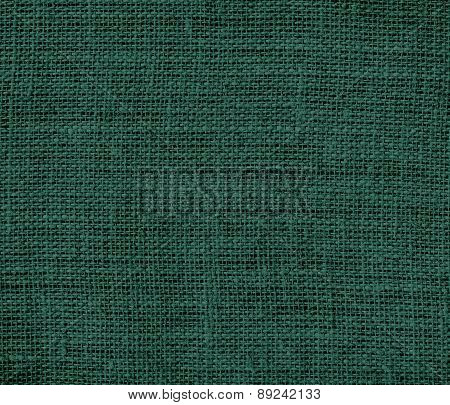 Brunswick green color burlap texture background