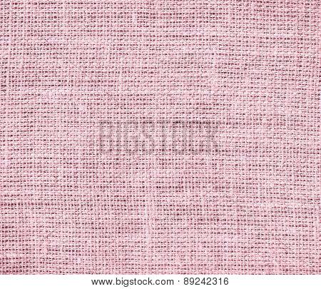 Bubble gum color burlap texture background