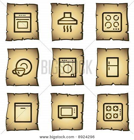 Haushaltsgeräte Web Icons, Papyrus-Serie