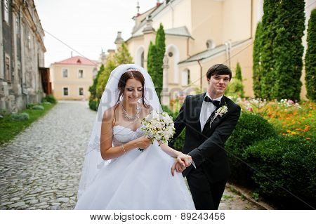 Young Beautiful Wedding Couple