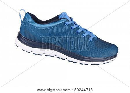 Blue sneaker isolated on white