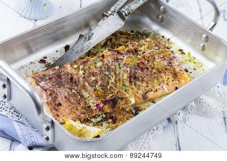Salmon Flilet in Skillet