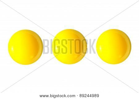 Few Raw Yellow Eggs Yolks