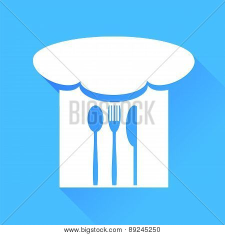 Spoon, Fork, Knife and Chef Hat