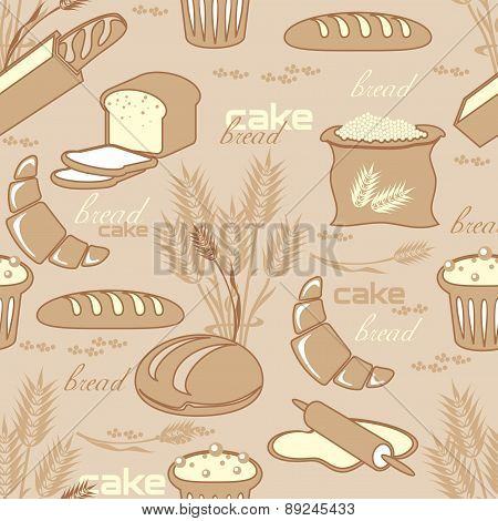 Bread Seamless Pattern