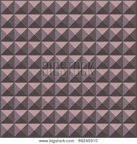 Wall With Lavender Gray Pyramid Tiles Pattern