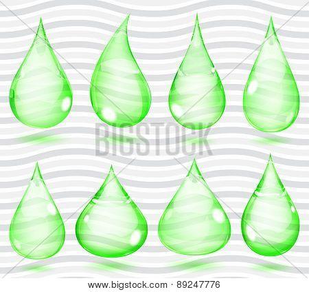 Transparent Green Drops