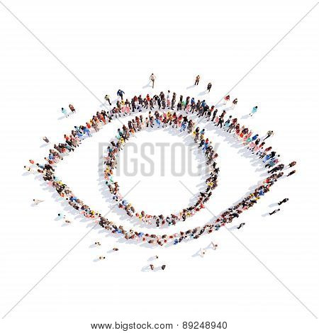 people in the form of eye.