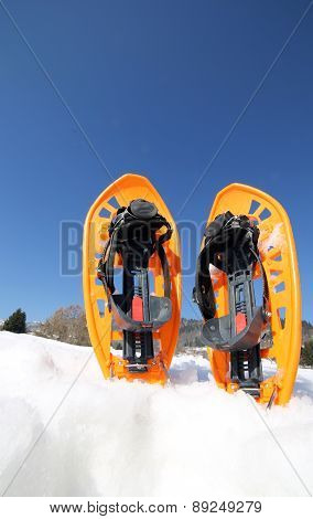 Snowshoes For Excursions On The Snow In The Mountains