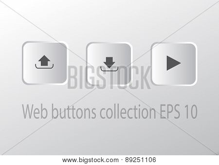 Square Button vector Set