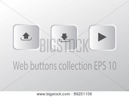 Square Button vector Set