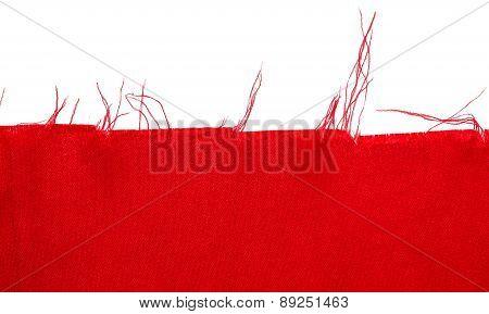 Red silk shape of cloth.