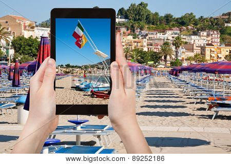 Photo Of Beach In Giardini Naxos, Sicily, Italy