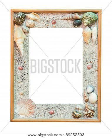 Frame Shell For Picture On Isolate White With Clipping Path.