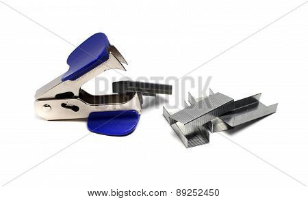 Small Staple Remover White Background