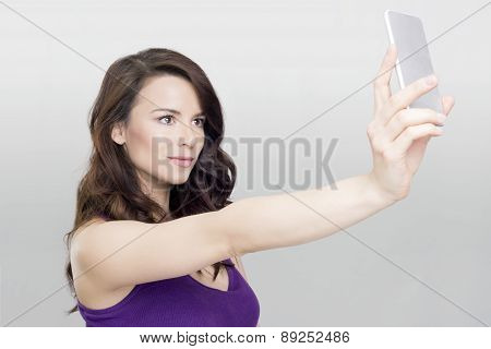 Beautiful woman selfie